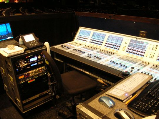 SoundCraft Vi6 and FOH gear.